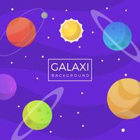 Flat Purple Galaxy Background vector