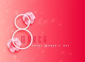 gelukkige vrouwen dag viering achtergrond in roze kleurenthema