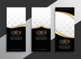 premium set of golden vertical banners