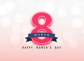 Diseño de fondo del día de la mujer encantadora 8 de marzo