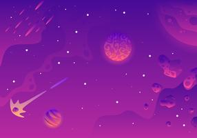 Galaxy Background Landscape Vector