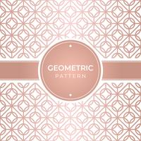 Geometric seamless rose gold pattern vector