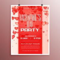Valentinstag Ereignis Feier Flyer Vorlage Design