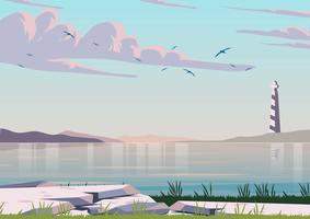 Ocean Landscape Background vector