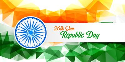 happy republic day abstract indian flag background