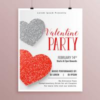 stilvolle Valentinstag-Party Flyer Vorlage
