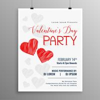 Happy Valentines Day Party Feier Flyer Vorlage