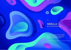 Abstract Neon Nebula Vector Background