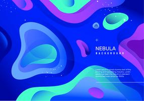 Abstract Neon Nebula Vector Background