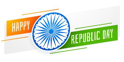happy republic day banner design