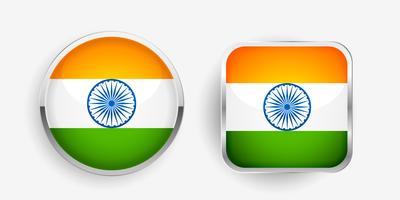 zwei indische Flaggenetikettendesign