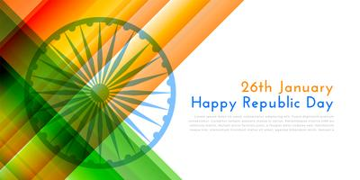 happy republic day indian flag illustration background