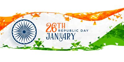 26th january happy republic day banner