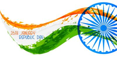 abstract indian republic day flag banner design