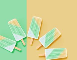 Helado limpio y pastel realista, ilustración vectorial