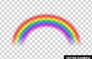 Transparent rainbow. Vector illustration. Realistic rainbow on transparent background.