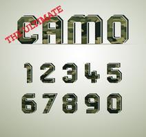 Carácter de camuflaje, fuentes vectoriales detalladas vector