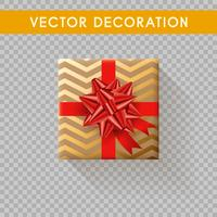 Realistische Geschenkbox Draufsicht. Geschenkboxen ohne Hintergrund. Vektor-Illustration