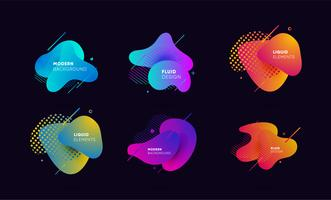 Dynamical colored graphic elements