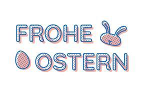 Frohe Ostern Vintage Typografie