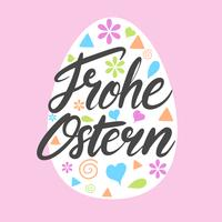Frohe Ostern Typography
