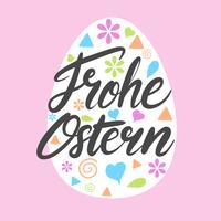 Frohe Ostern Typografie