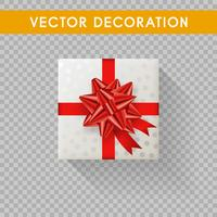 Realistische geschenkdoos bovenaanzicht. Geschenkdozen zonder achtergrond. Vector illustratie