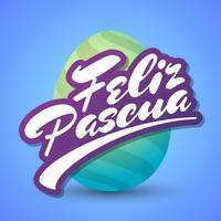 Feliz Pascoa Easter Egg-logo