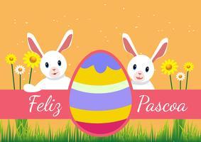 Tipografía Feliz Pascoa