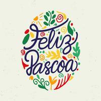 Typographie Feliz Pascoa