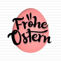 Script Style Frohe Ostern Typography