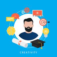 Onderwijs, e-learning, online cursussen, tutorials, online les, video training, universitair diploma platte vector ilustration ontwerp voor webbanners en apps