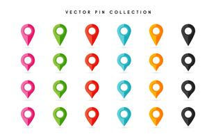 Location pin. Map pin flat icon vector design.