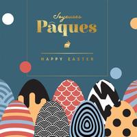 disegno vettoriale di joyeuses paques