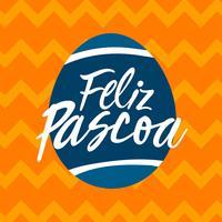 Hand belettering Feliz Pascoa typografie