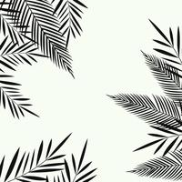 Exotic leaves seamless pattern background. Tropical poster design