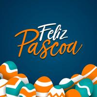 Sjabloon van Feliz Pascoa typografie