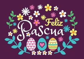 Feliz Pascua Vector