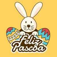 Feliz Pascoa Typografi Vector
