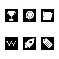Conjunto de vetor SEO Search Engine Optimization Icons
