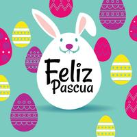 Happy Easter or Feliz Pascua Greeting Card