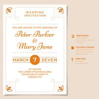 Vintage Wedding Invitation Design Template