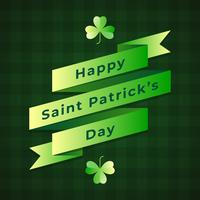 Saint Patricks Day Retro Ribbon auf Musterhintergrund