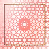 Modern Rose Gold Geometric Design Template vector