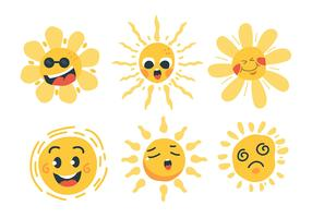 Set di clipart di sole