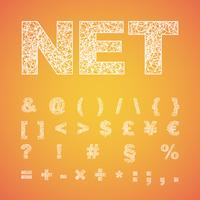 Tipografía de red, tipografía vectorial