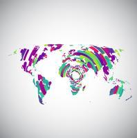 Programma di mondo astratto con i cerchi variopinti per la pubblicità, vettore