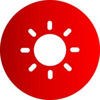 Vector sun icon