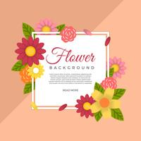 Flat Flower Vector Background Template