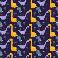 Vector de patrón de dinosaurios
